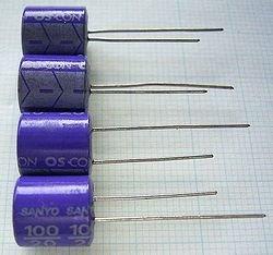 画像1: SANYO OSコンデンサー 20V 100uF 4個組み