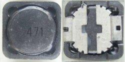 画像2: 面実装パワーインダクター(コイル)CDRH125 470uH 0.58A 4個
