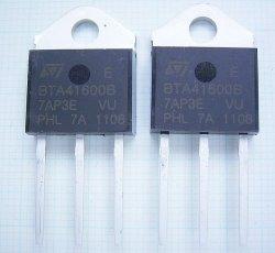 画像1: 600V 40Aトライアック(双方向サイリスタ) BTA41-600BRG 2個