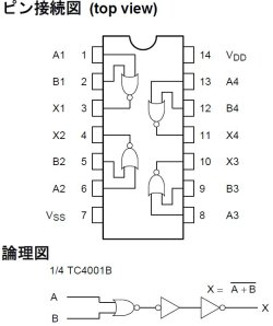 画像2: CD4001BE CMOS NORゲート  ロジック・デジタルIC 2個