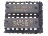 SN74HC74N Dフリップ・フロップ  2個