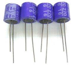 画像1: OS-CON OSコンデンサー16V 270uF(SPシリーズ) 4個