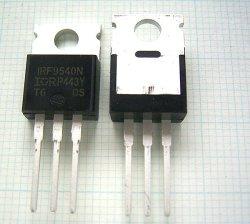 画像2: Pch パワーMOS-FET IRF9540 (100V 20A)  2個 絶縁シート・ワッシャ付き