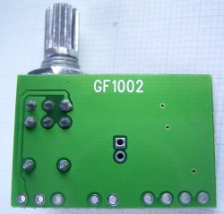 画像2: PAM8403 小型デジタルアンプ USB電源使用可 ボリューム付き