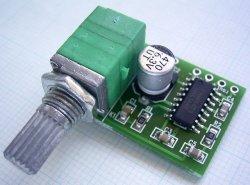 画像1: PAM8403 小型デジタルアンプ USB電源使用可 ボリューム付き