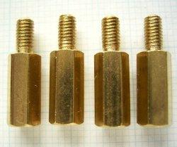 画像1: 黄銅スペーサー M3 × 11mm  4個