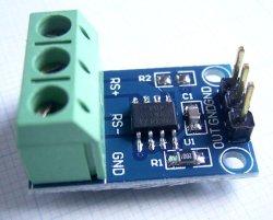画像1: MAX471 高精度ハイサイド電流アンプ基板 入力±3A  1A/V出力