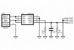 画像3: MAX471 高精度ハイサイド電流アンプ基板 入力±3A  1A/V出力