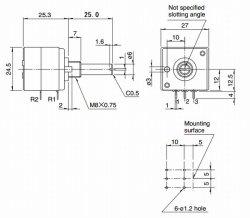 画像4: アルプス製 2連ボリューム(ボリウム)RK27 100kΩA