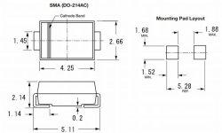 画像3: 40V 1A 面実装(チップ型)高速ショットキーダイオード SS14 10個