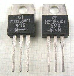 画像1: カソードコモンショットキーダイオード MBR1560CT 60V 15A 2個