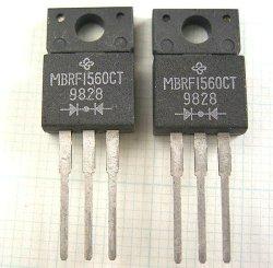 画像1: カソードコモンショットキーダイオード MBRF1560CT 60V 15A 2個