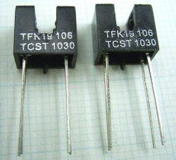 画像1: 透過型フォトセンサ(フォトインタラプタ) TCST1030 2個