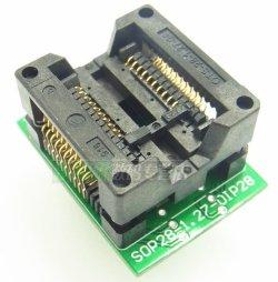 画像1: SOP テストソケット(DIP変換) 20ピン以下使用可能 ワイドタイプ