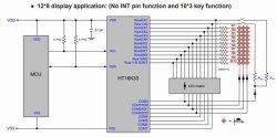 画像3: 8 × 12 LEDドライバ IC HT16K33 24ピンSOP
