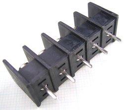 画像3: 7.62mmピッチ端子台(ターミナルブロック)5P 基板取付用