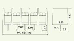 画像4: 7.62mmピッチ端子台(ターミナルブロック)4P 基板取付用