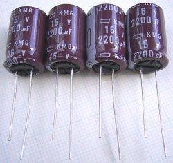 画像2: 日本ケミコン 105℃対応 KMGシリーズ 16V 2200uF  長寿命電解コンデンサー 4個