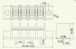 画像4: 7.62mmピッチ端子台(ターミナルブロック) 4P ネジ止め