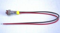 画像2: 黃色 発光ダイオード(LED) パネル取り付け用 抵抗内蔵 直径6mm